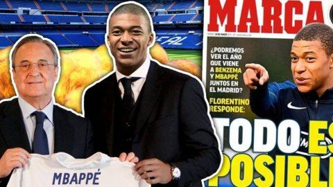 Chủ tịch Perez thừa nhận Mbappe là mục tiêu hàng đầu của Real