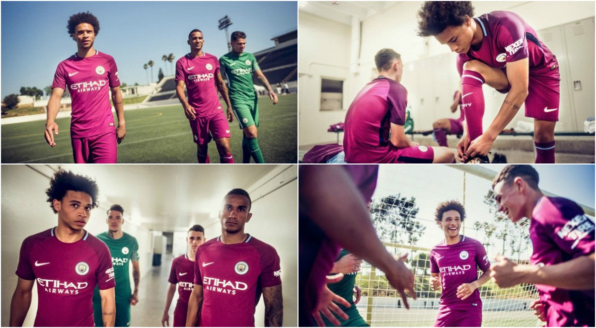Man City tung mẫu áo đấu sân khách 'cực lạ'