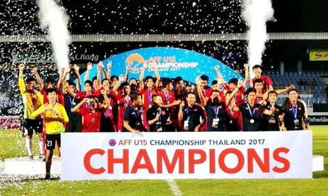 Hạ Thái Lan sau loạt luân lưu nghẹt thở, Việt Nam vô địch giải U15 Đông Nam Á 2017