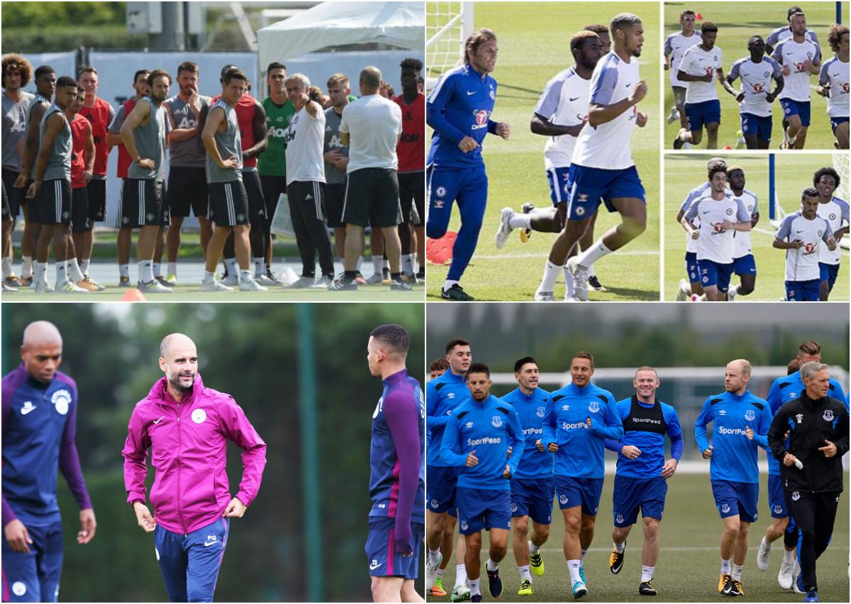 Dàn sao Premier League luyện tập chuẩn bị cho mùa giải mới
