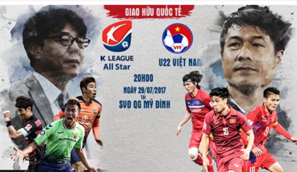 VFF công bố giá vé xem U22 Việt Nam đấu Ngôi sao Hàn Quốc