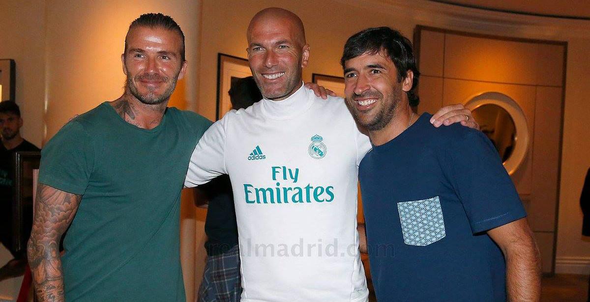 David Beckham tái ngội Raul và Zidane trên đất Mỹ
