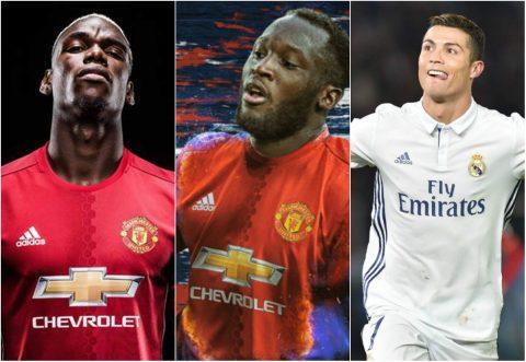 Lukaku đánh bật Zidane ra khỏi danh sách 10 cầu thủ đắt giá nhất thế giới