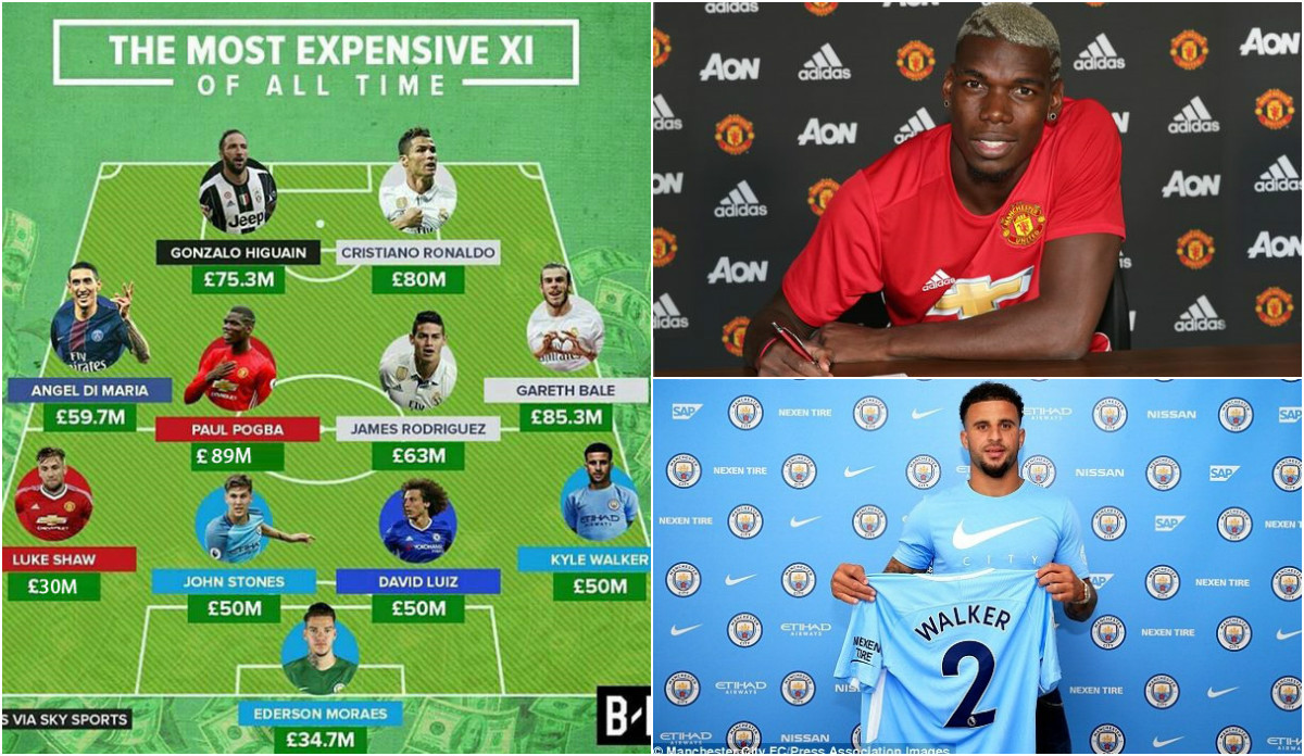 Đội hình đắt giá nhất lịch sử chuyển nhượng thế giới: Thành Manchester vô đối