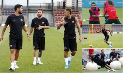MNS trở lại luyện tập, Barca sẵn sàng cho chuyến du đấu