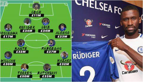 Antonio Rudiger và đội hình đắt giá nhất lịch sử của Chelsea
