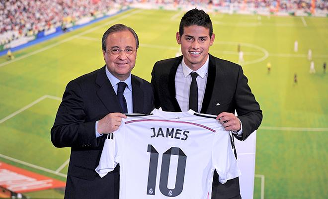 Với Florentino Perez, James Rodriguez đã hết giá trị