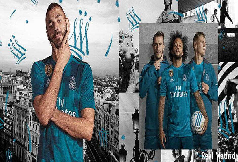 """Real Madrid chính thức ra mắt mẫu áo đấu thứ 3 cực """"lạ mắt"""""""