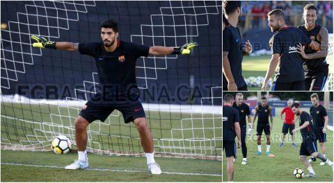 Luis Suarez muốn thử sức ở vị trí ..thủ môn