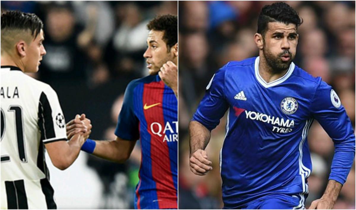 """TIN CHUYỂN NHƯỢNG 22/07: Barcelona muốn có Dybala thay thế Neymar; Diego Costa sẽ """"đánh thuê"""" trước khi về Atletico"""