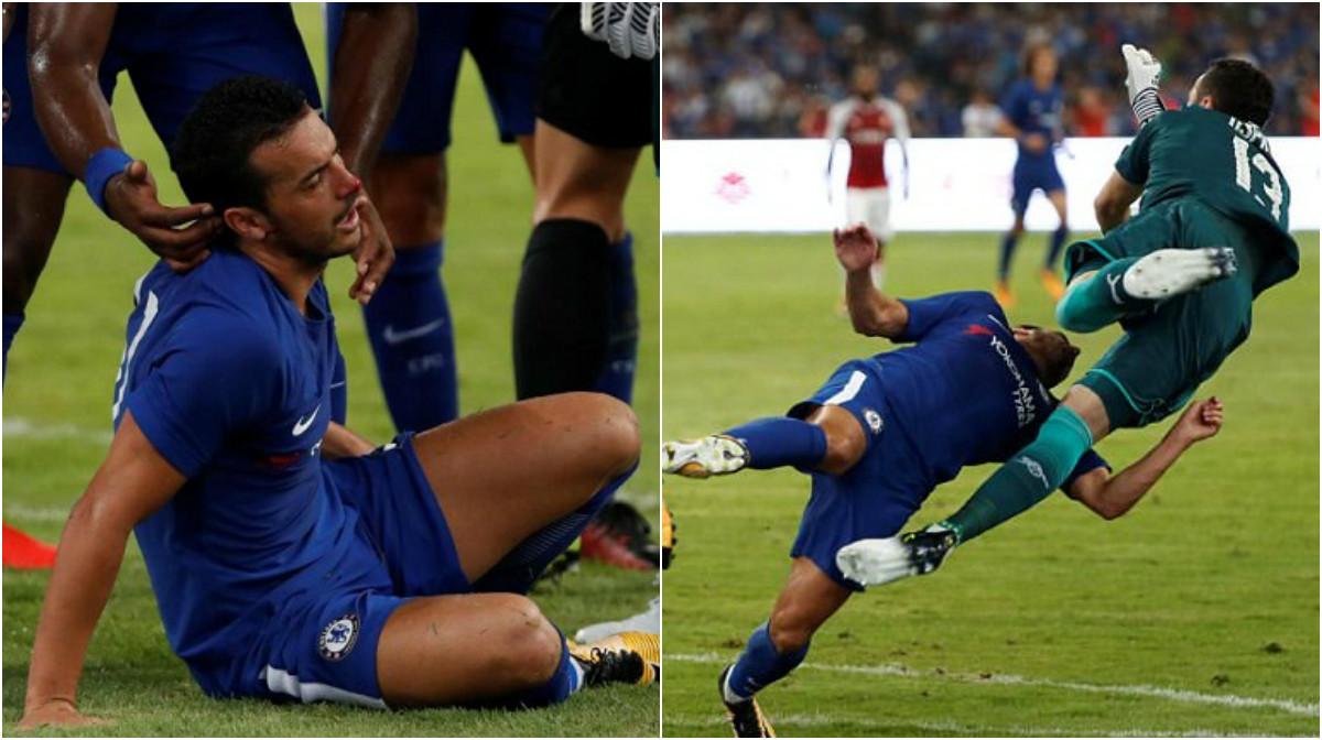 Nhận cú đấm Knock-out của Ospina, sao Chelsea lập tức phải nhập viện
