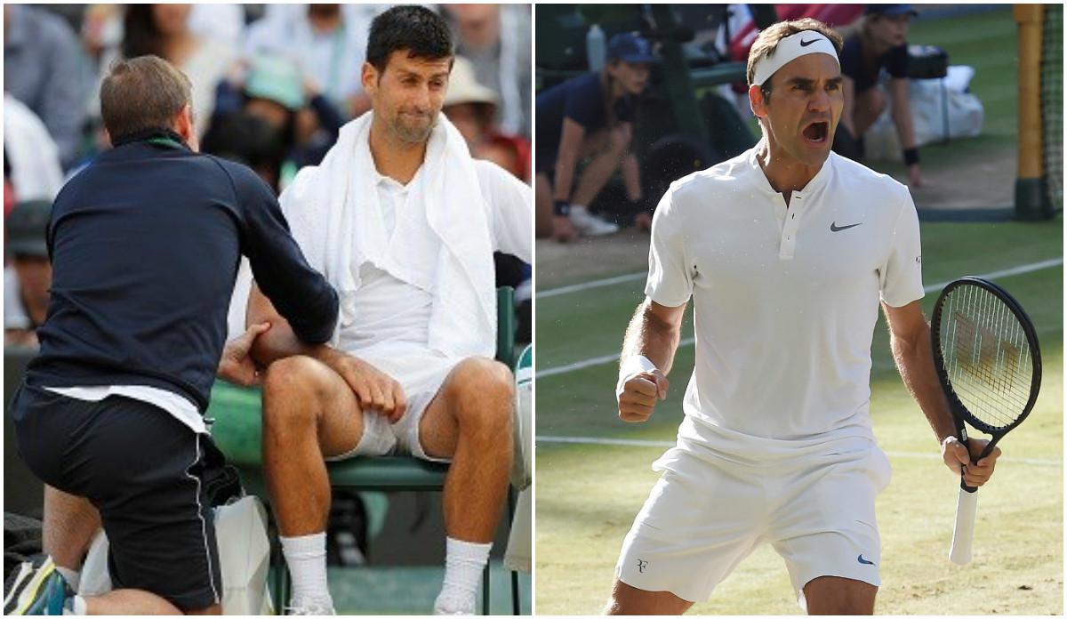 Tứ kết Wimbledon 2017: Djokovic bỏ cuộc, Federer xuất sắc tiến vào bán kết Wimbledon