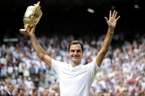 Thiết lập kỷ lục vô địch Wimbledon, Federer vươn lên số 3 thế giới