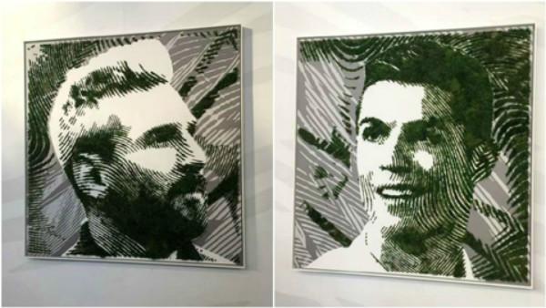 Chân dung Messi, Ronaldo độc đáo vì được làm bằng …cỏ