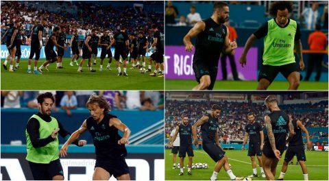 CHÙM ẢNH: Dàn sao Real Madrid luyện tập trước đại chiến El Clasico