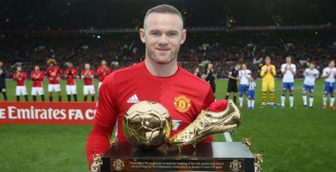 Chỉ Ronaldo và Messi mới phá được kỷ lục của Rooney ở MU
