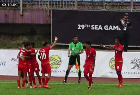 Hủy diệt U22 Brunei, U22 Myanmar giành tấm vé đầu tiên vào bán kết SEA Games 29