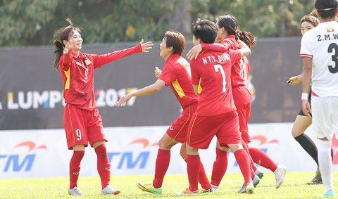 Nỗ lực không biết mệt mỏi, ĐT Nữ Việt Nam xuất sắc đánh bại Myanmar trong trận cầu kịch tính