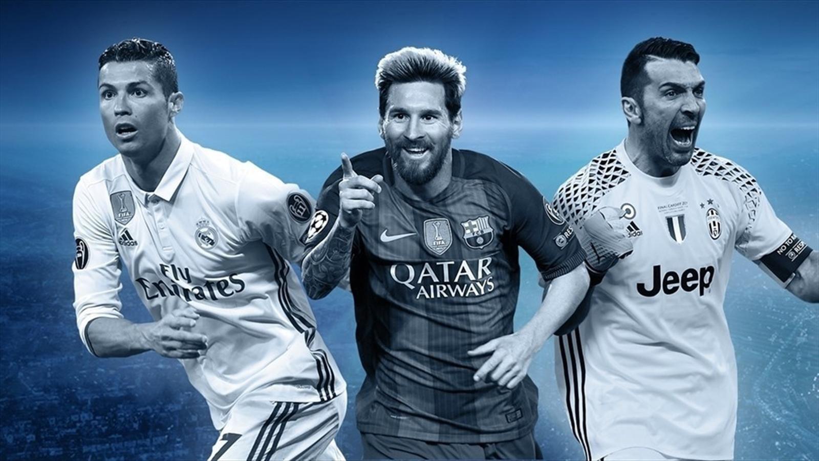 """Cầu thủ hay nhất năm của UEFA: Messi, Buffon chờ """"làm nền"""" cho Ronaldo"""