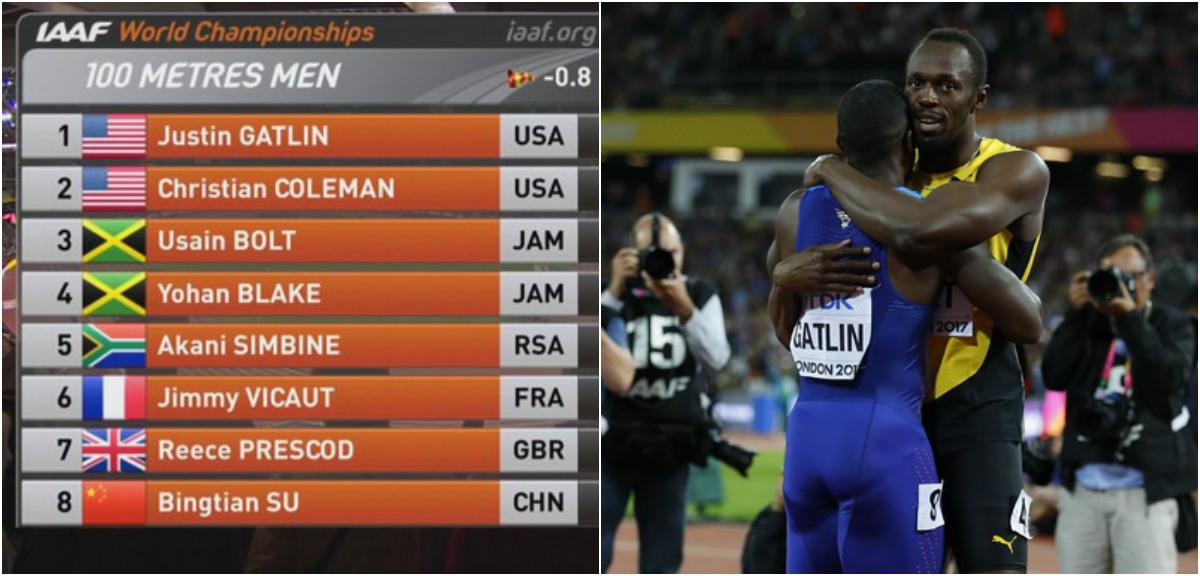 Tượng đài Usain Bolt thua sốc ở cự ly 100m giải vô địch thế giới