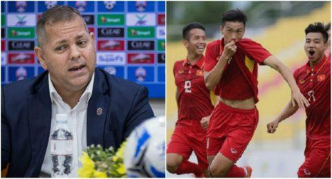 """Thua đội bóng yếu nhất bảng, HLV Campuchia vẫn """"ngạo nghễ"""" khẳng định sẽ đánh bại U22 Việt Nam"""