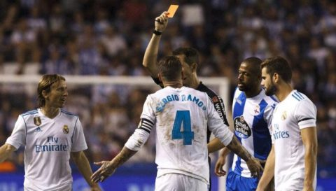 Top 10 Vua thẻ đỏ trong lịch sử La Liga: 'Kỷ lục gia' Sergio Ramos