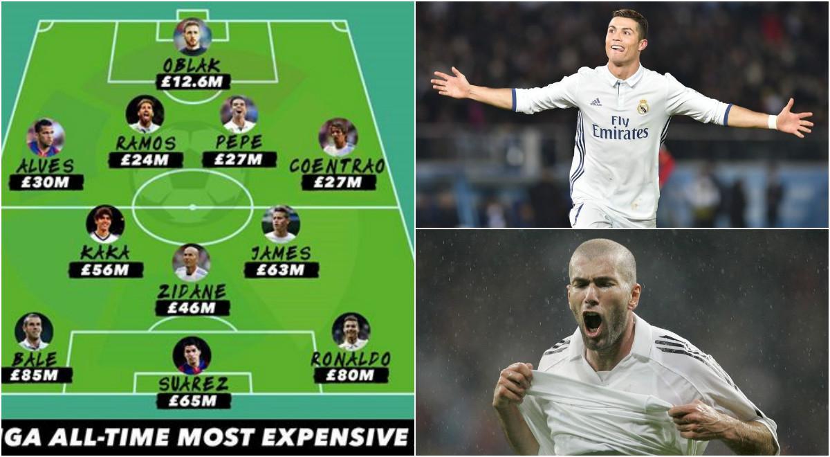 Zidane, Ronaldo và đội hình đắt nhất lịch sử La Liga