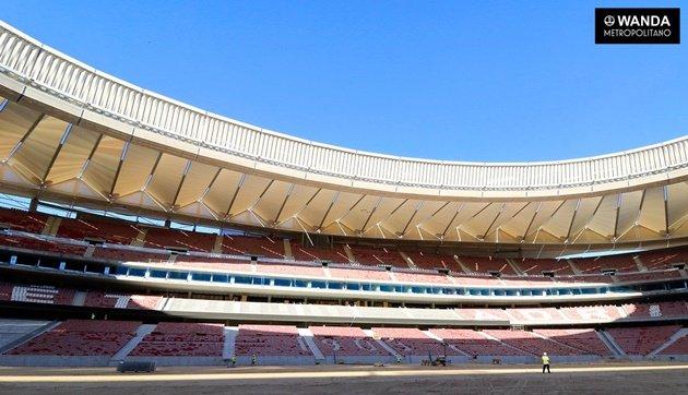 Wanda Metropolitano – Siêu SVĐ mới của Atletico Madrid sắp hoàn tất