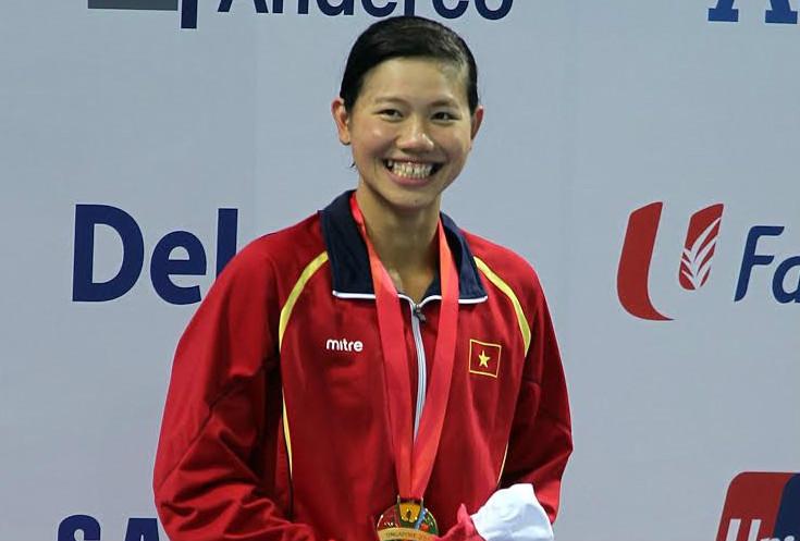 Ánh Viên đoạt HCV nội dung 400m hỗn hợp tại Giải vô địch bơi lội châu Á