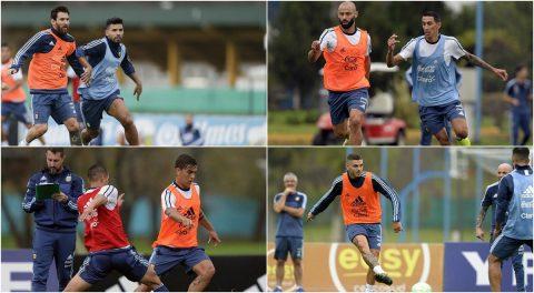Về tuyển Argentina, Messi và các đồng đội 'mệt nhoài' trong buổi tập đầu tiên