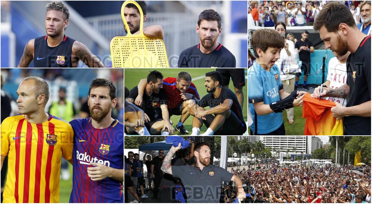 Những hình ảnh đẹp nhất của Barcelona trong tour du đấu Mỹ
