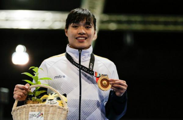 Nữ kiếm thủ giành tấm HCV thứ 10 cho Đoàn thể thao Việt Nam