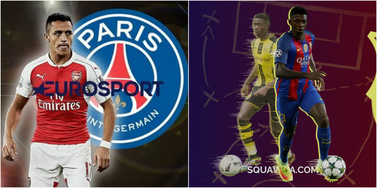 TIN CHUYỂN NHƯỢNG 09/8: PSG hỏi mua Alexis Sanchez 80 triệu bảng; Dembele bất ngờ gần Barca hơn Coutinho
