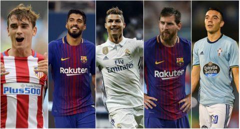 5 tiền đạo xuất sắc nhất La Liga hiện tại: Messi chưa phải số 1