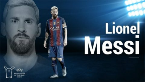 ƯCV cầu thủ hay nhất UEFA 2017 – Lionel Messi