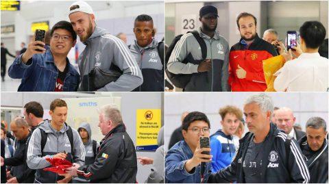 Vừa trở về Manchester, thầy trò Mourinho bị fan hâm mộ vây kín
