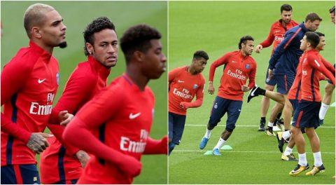 Neymar hăng hái tập luyện sẵn sàng ra mắt Parc des Princes