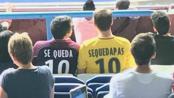 Pique bị fan PSG chế nhạo vì vụ Neymar