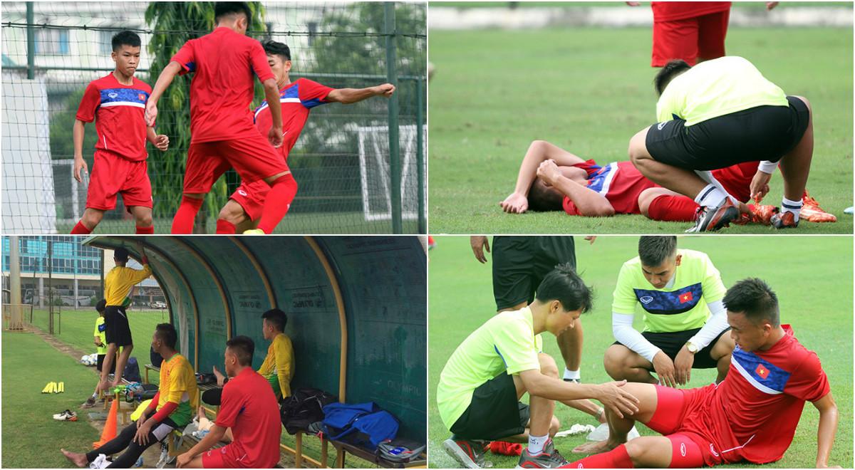Thủ môn U18 Việt Nam thi nhau chấn thương trong buổi tập đầu tiên