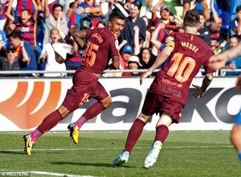 Tân binh Paulinho tỏa sáng đúng lúc, Barca vỡ òa với chiến thắng nhọc nhằn trước Getafe