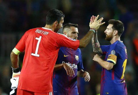 Lần đầu tiên bị Messi phá lưới, huyền thoại Buffon đăng đàn tuyên Ronaldo không là gì so với M10