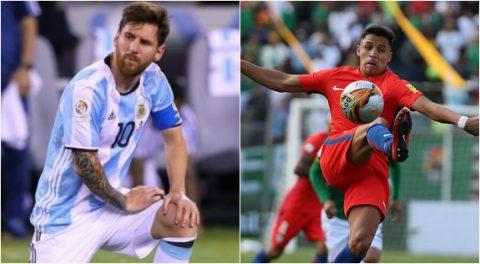Kết quả, BXH vòng loại World Cup 2018 khu vực Nam Mỹ: Argentina, Chile lâm nguy