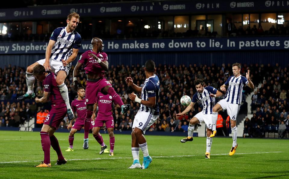 Man City nhọc nhằn vượt qua West Brom để tiến vào vòng 4 League Cup