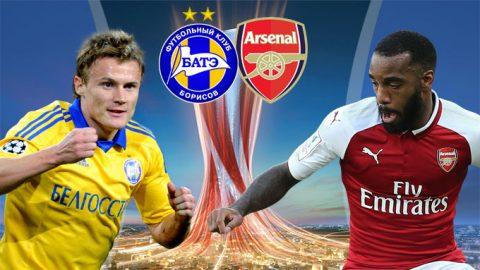 BATE Borisov vs Arsenal, 00h00 ngày 29/9: Tiếp đà thăng hoa