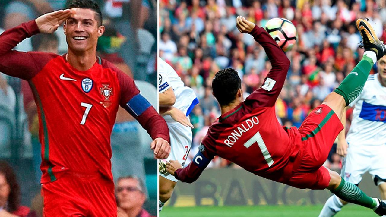 """Ronaldo ghi siêu phẩm, lập hat-trick, vượt qua """"Vua bóng đá"""" Pele và…đoạn tuyệt ân nghĩa với MU"""