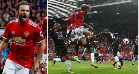Fellaini lập cú đúp – Lukaku ghi bàn kỷ lục, MU vùi dập Crystal Palace tại Old Trafford
