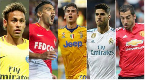 Neymar, Asensio và những ứng viên cho danh hiệu cầu thủ hay nhất tháng 8