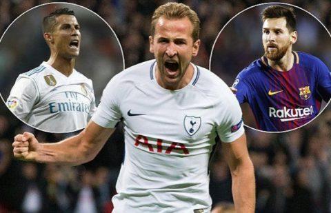 Kane lập hat-trick thứ 6 trong năm 2017, bằng Messi, Ronaldo và Lewandowski cộng lại