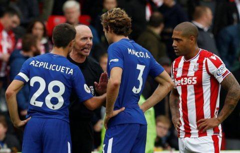 Chelsea bị tố là chơi quá bạo lực trong trận đại thắng Stoke