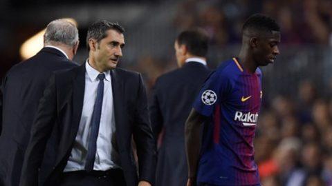 HLV Valverde đau đớn chỉ ra lý do khiến Dembele dính chấn thương nghiêm trọng